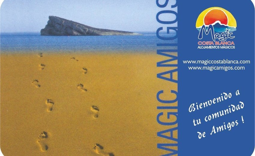 "Carte ""Amigos"" Magic Aqua™ Villa Luz Plage de Gandía"